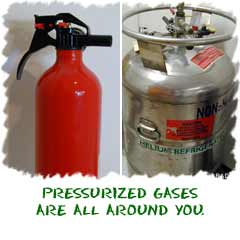 Pressurized gases are all around you