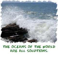 Oceans are solutions
